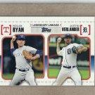 2010 Topps Baseball Legendary Lineage Ryan and Verlander #LL53