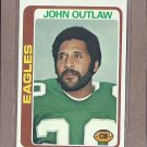 1978 Topps Football John Outlaw Eagles #23