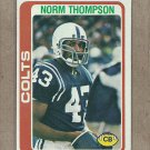 1978 Topps Football Norm Thompson Colts #29