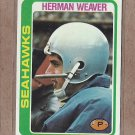 1978 Topps Football Herman Weaver Seahawks #103