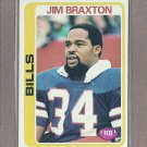 1978 Topps Football Jim Braxton Bills #114