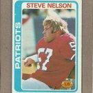 1978 Topps Football Steve Nelson Patriots #116