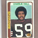 1978 Topps Football Charlie Hall Browns #157