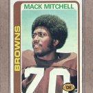 1978 Topps Football Mack Mitchell Browns #204