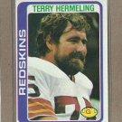 1978 Topps Football Terry Hermeling Redskins #236