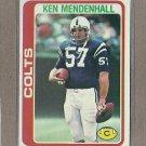 1978 Topps Football Ken Mendenhall Colts #241