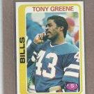 1978 Topps Football Tony Greene Bills #251