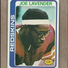1978 Topps Football Joe Lavender Redskins #256