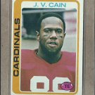 1978 Topps Football J.V. Cain Cardinals #272