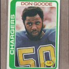 1978 Topps Football Don Goode Chargers #279
