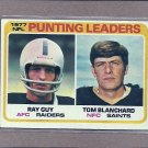 1978 Topps Football Punting Leaders #336
