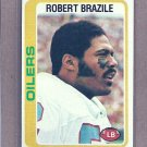 1978 Topps Football Robert Brazile Oilers #337
