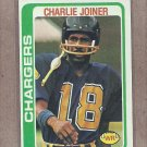 1978 Topps Football Charlie Joiner Chargers #338