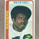 1978 Topps Football Willie Hall Raiders #345