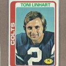 1978 Topps Football Tony Linhart Colts #355