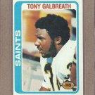 1978 Topps Football Tony Galbreath Saints #408