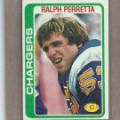 1978 Topps Football Ralph Perretta Chargers #419