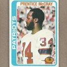 1978 Topps Football Prentice McCray Patriots #421