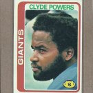 1978 Topps Football Clyde Powers Giants #452