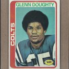 1978 Topps Football Glenn Doughty Colts #458