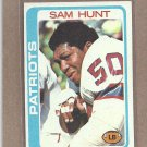1978 Topps Football Sam Hunt Patriots #461