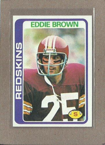 1978 Topps Football Eddie Brown Redskins #476