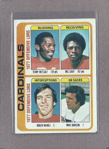 1978 Topps Football Cardinals Team Card #523