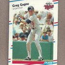 1988 Fleer Baseball Greg Gagne Twins #11