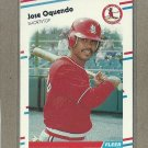 1988 Fleer Baseball Jose Oquendo Cardinals #44
