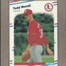 1988 Fleer Baseball Todd Worrell Cardinals #50