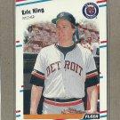 1988 Fleer Baseball Eric King Tigers #60
