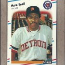 1988 Fleer Baseball Nate Snell Tigers #70