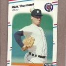 1988 Fleer Baseball Mark Thurmond Tigers #73
