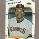 1988 Fleer Baseball Dave Henderson Giants #84