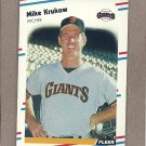 1988 Fleer Baseball Mike Krukow Giants #85