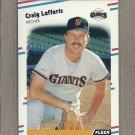 1988 Fleer Baseball Craig Lefferts Giants #87