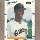1988 Fleer Baseball Eddie Milner Giants #90