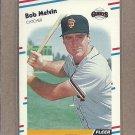 1988 Fleer Baseball Bob Melvin Giants #91