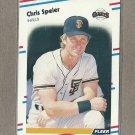 1988 Fleer Baseball Chris Speier Giants #96