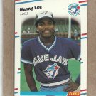 1988 Fleer Baseball Manny Lee Blue Jays #116