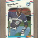 1988 Fleer Baseball Lloyd Moseby Blue Jays #119