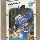 1988 Fleer Baseball Willie Upshaw Blue Jays #124