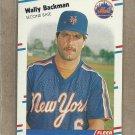 1988 Fleer Baseball Wally Backman Mets #128