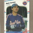 1988 Fleer Baseball Mark Carreon RC Mets #129