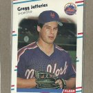 1988 Fleer Baseball Gregg Jefferies RC Mets #137
