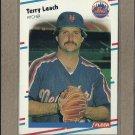 1988 Fleer Baseball Terry Leach Mets #139