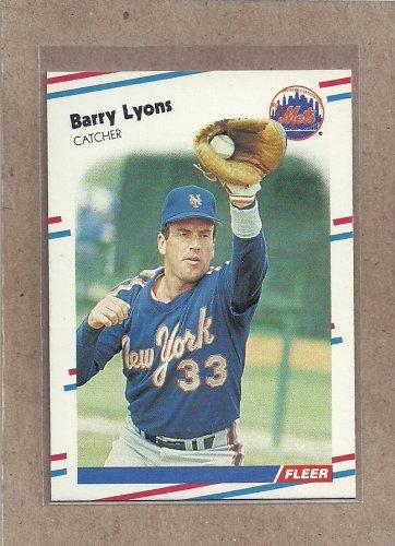 1988 Fleer Baseball Barry Lyons Mets #140