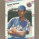 1988 Fleer Baseball Rafael Santana Mets #149