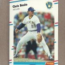 1988 Fleer Baseball Chris Bosio Brewers #156