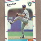 1988 Fleer Baseball Chuck Crim Brewers #162